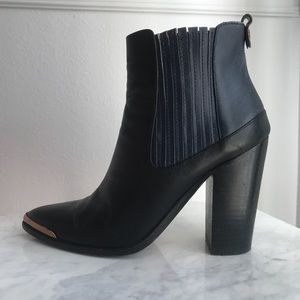 BCBG MAXAZARIA leather booties